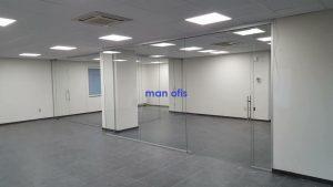 مكتب رجل ، قسم الزجاج
