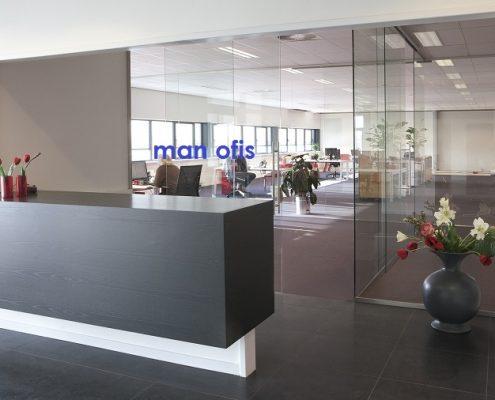 مكتب رجل ، نظم تقسيم الزجاج
