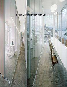 F1100 جدار التقسيم الزجاج الملامح الرجل المكتب
