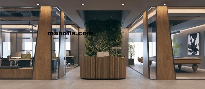 مكتب زجاج مكتب تصميم