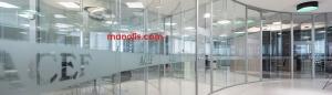 الزجاج أسعار تقسيم القصر ونماذج مكتب
